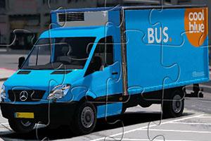 蓝色奔驰货车拼图