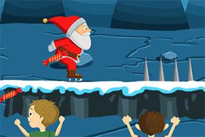 圣诞老人溜冰