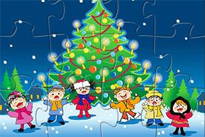 圣诞节儿童拼图