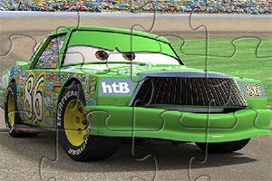 绿色汽车拼图