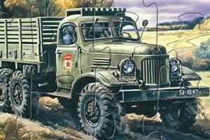 军用卡车拼图