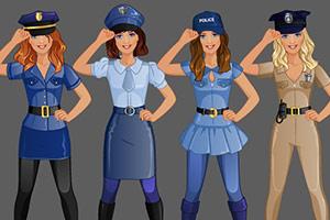 时尚工作室的女警装