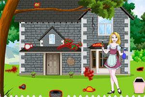 公主打扫房屋