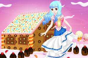 可爱女孩的糖果小屋