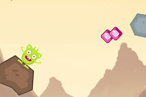 怪物跳跃石头