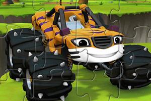 虎皮怪物卡车拼图