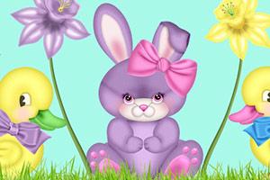 复活节开心兔子拼图