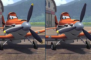 卡通飞机找不同