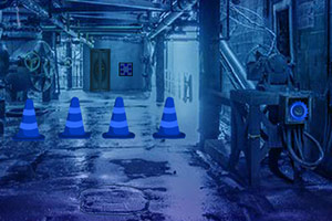 逃离蓝色废弃工厂