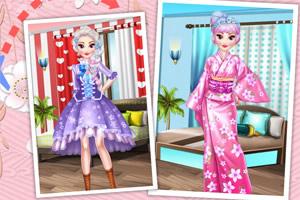 艾莎公主的日本之旅