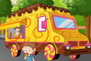 冰淇淋卡通车H5