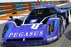 紫色极速赛车拼图