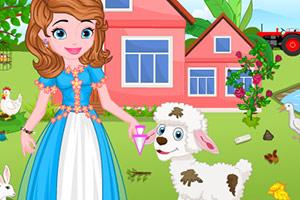 索菲亚照顾小羊羔