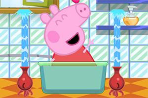 小猪佩奇要洗澡