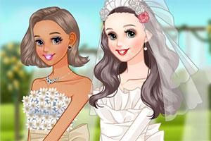 可爱的新娘装扮