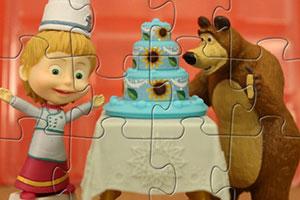 玛莎做蛋糕拼图