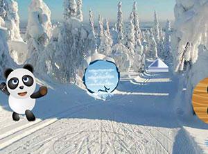 救援雪地里的熊猫