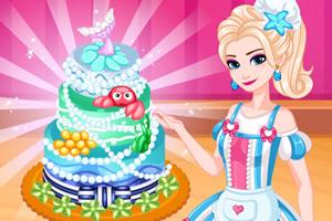 艾莎制作蛋糕