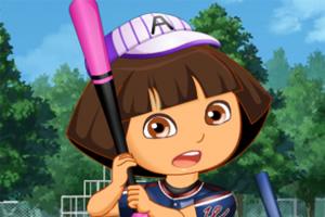 可爱朵拉打棒球