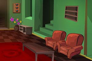 逃离绿色旧房屋