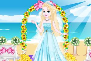 漂亮女孩的婚礼装扮