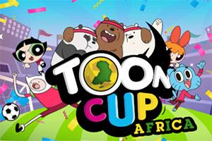 非洲卡通足球赛