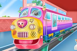 火车清洁和修理