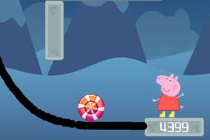 小猪佩奇糖果画线