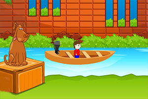 湖中的男孩逃脱