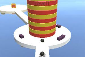 圆球撞高塔