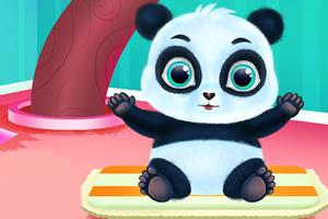 照顾可爱小熊猫