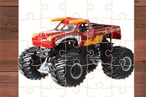 怪物卡车拼图挑战