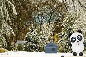 救援困在雪里的熊猫