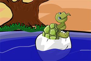 救援受困的小海龟