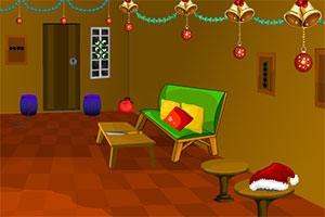逃离圣诞装饰的房