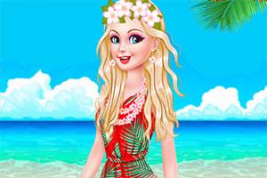 夏威夷旅游的芭比