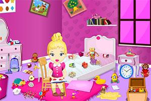 整理小女孩房间