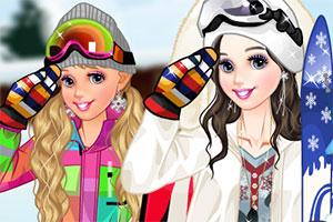 滑雪的季節