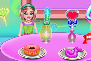 糖果店烹饪和清洁
