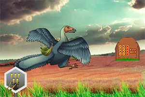 神秘巨鸟林逃生