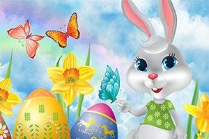 复活节兔子找图片