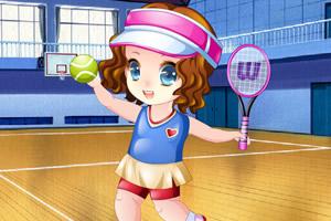小宝贝打网球