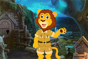 救援有趣的狮子