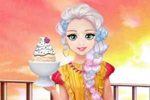 甜美奥莉吃甜点
