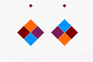 同色彩相撞