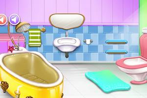清洁粉红房子
