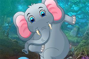 救援贪玩的大象