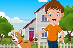 救援男孩与狗