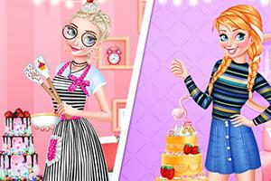 公主烹饪蛋糕