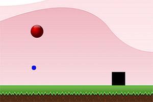 跳动的红圆球